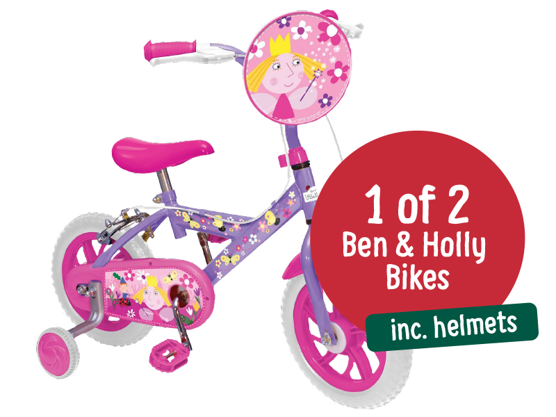 1 of 2 Ben and Holly Bikes, including helmets!