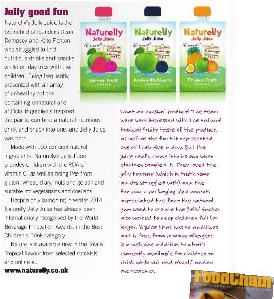 Naturelly in Food Chain Mag
