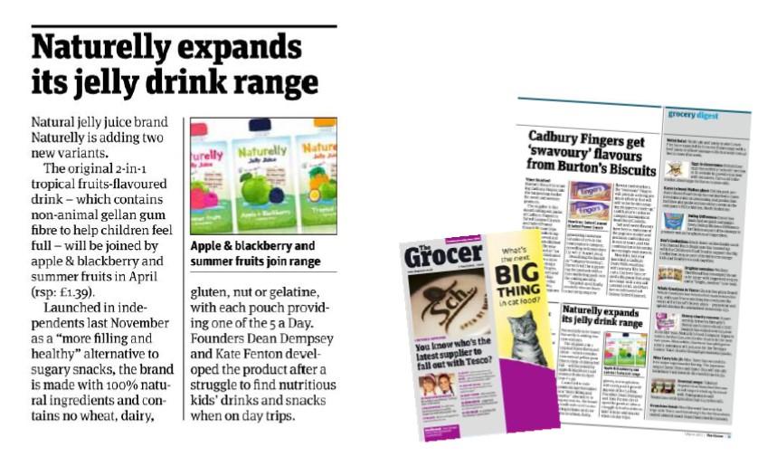 Naturelly in Grocer Magazine