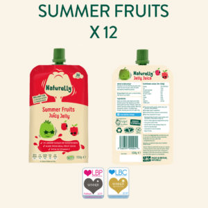 Naturelly Summer Fruits Jelly Pouch no added sugar or sweeteners