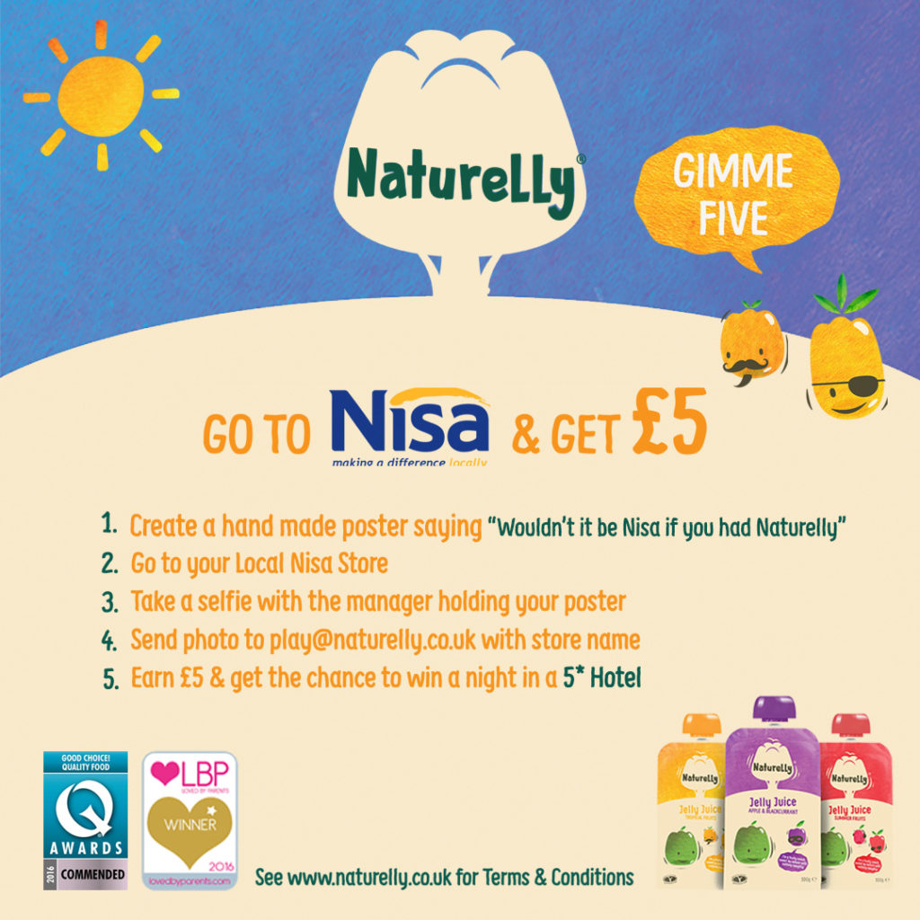 Nisa Gimme 5 with Naturelly Healthy Kids Snack