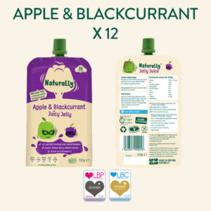 Naturelly Apple & Blackcurrant Jelly Pouches