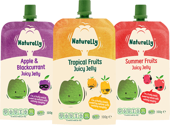Naturelly Juicy Jelly Pouch range with Vitamin C